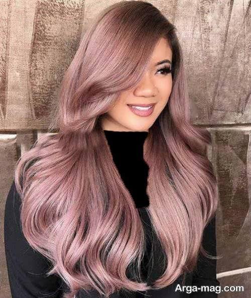 مدل رنگ مو زیبا پوست پیازی