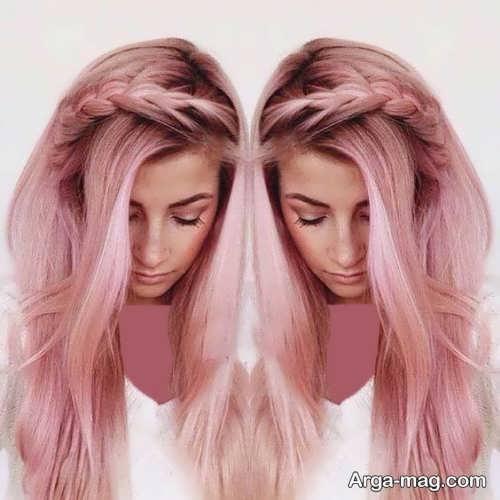 رنگ موی دخترانه جدید پوست پیازی