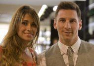 عکس لیونل مسی و همسرش