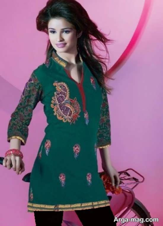 مدل تونیک زیبا سنتی دخترانه