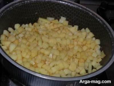 پخت سیب زمینی