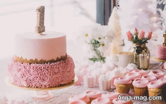 طراحی جدید و شیک کیک تولد دخترانه
