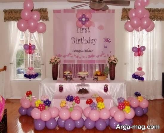 چیدمان محیط برگزاری جشن تولد