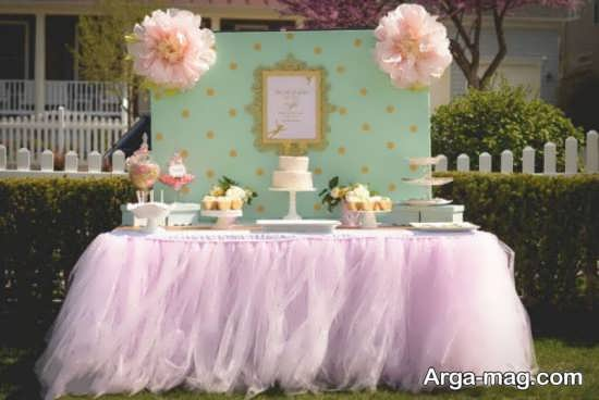 چیدمان فضا برای تم تولد پرنسسی