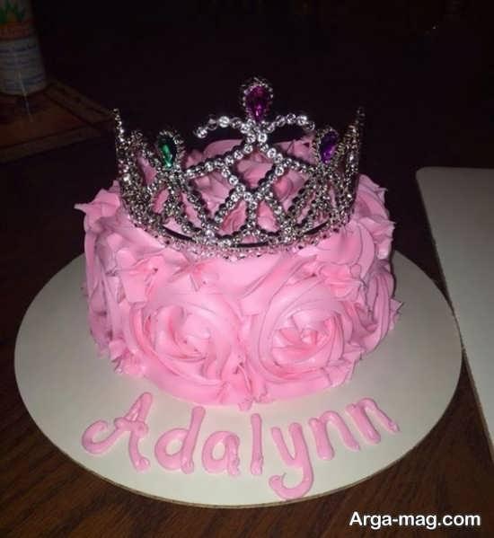 طرح زیبا و ساده کیک تولد دخترانه