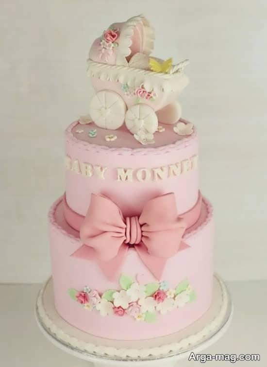 تزیین جالب و دل انگیز کیک تولد دخترانه