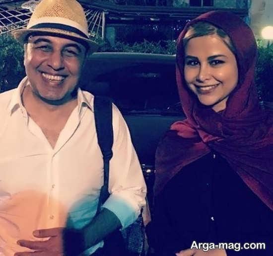 یاسمینا باهر در کنار رضا عطاران