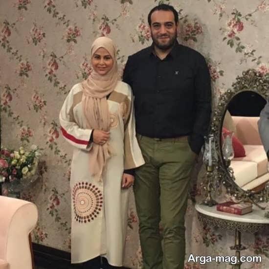 امیریل ارجمند در کنار همسرش یاسمینا باهر