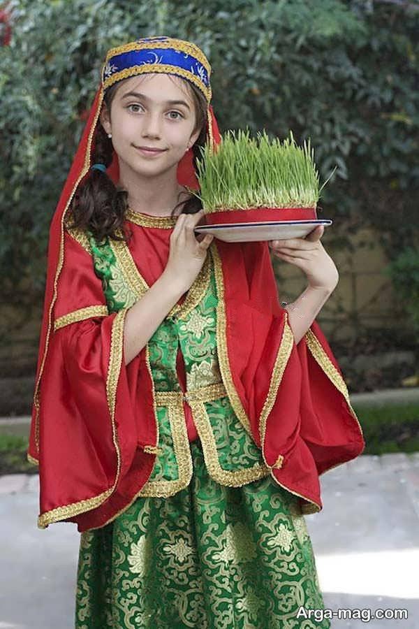 مدلی از لباس آذری زیبا