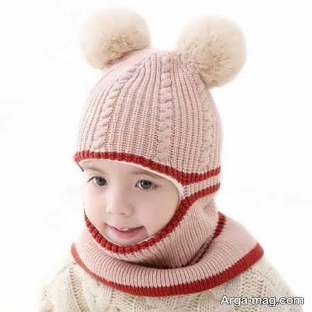 مدل کلاه بافتنی مدرن بچه گانه