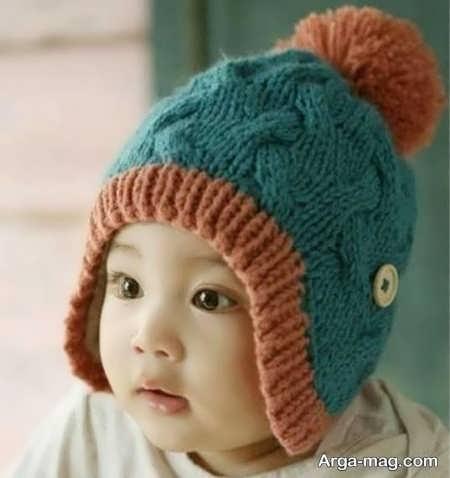 مدل بافت کلاه خرسی برای بچه ها