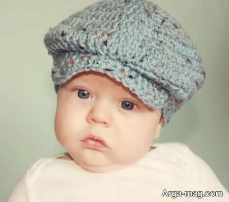 مدل کلاه بافتنی جذاب بچه گانه