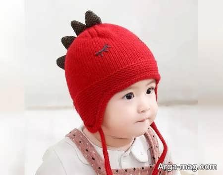 مدل کلاه بافتنی فوق العاده بچه گانه