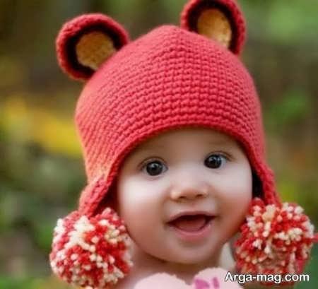 قشنگ ترین بافت کلاه بچه گانه