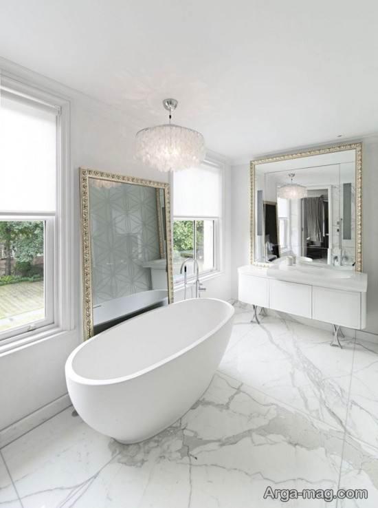 طراحی دکور غربی حمام