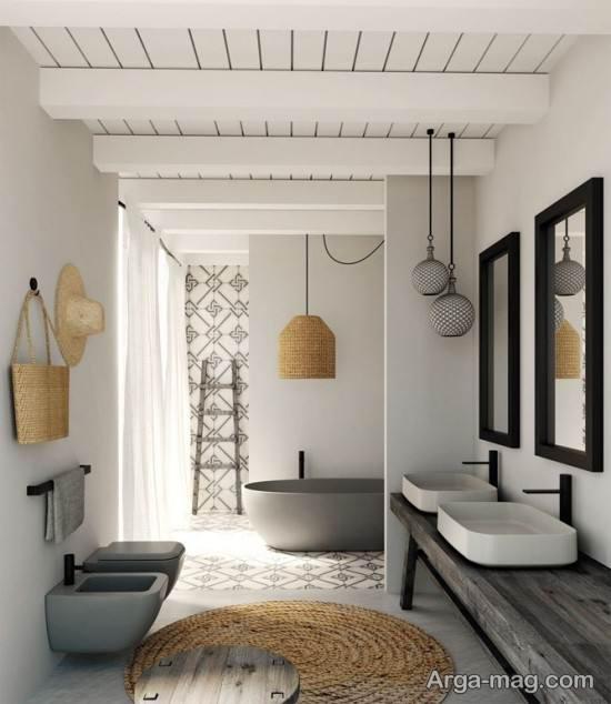 طراحی حمام لاکچری
