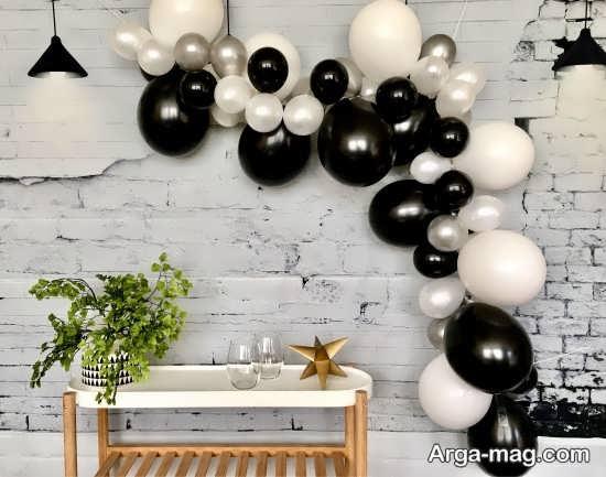 تزیینات مد روز تولد با طرح سفید مشکی