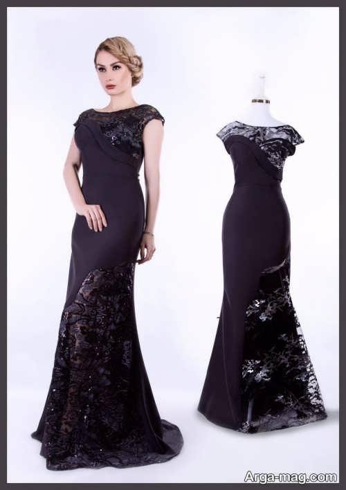 مدل لباس شب مشکی جذاب