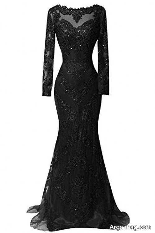 مدل لباس شب مشکی شیک