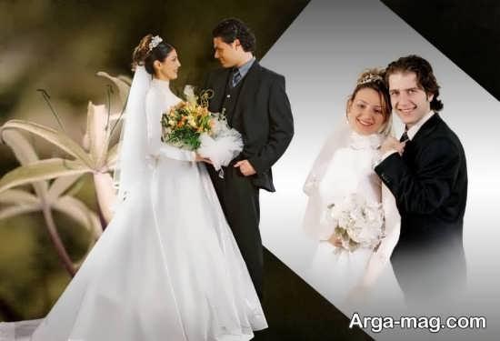 ژست طبیعی و شیک عروس و داماد