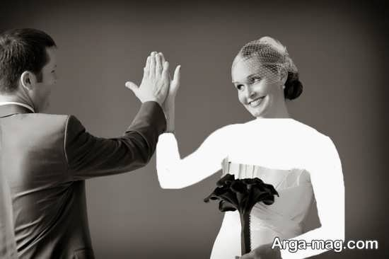 عکس جالب و زیبا عروس و داماد