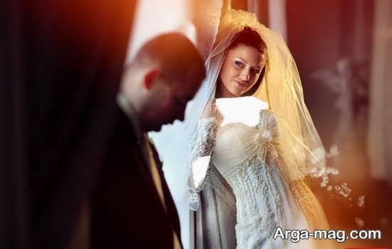 مدل زیبا و خاص عکس عروس و داماد
