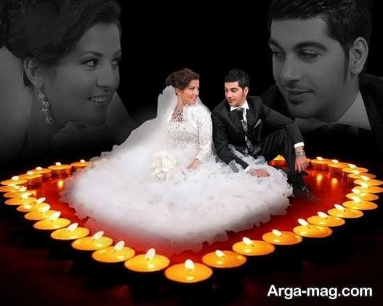 ژست رمانتیک و جالب عروس و داماد