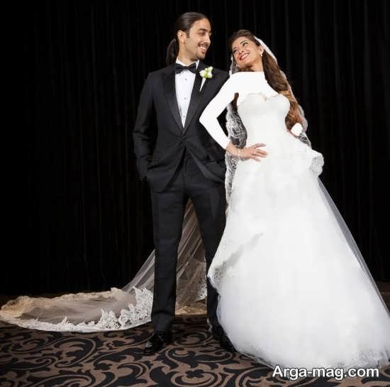 مدل ژست زیبا و جالب عروس و داماد