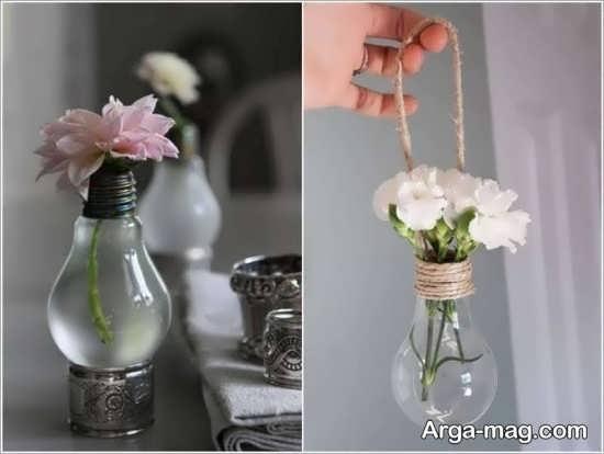 ساخت گلدان با لامپ سوخته