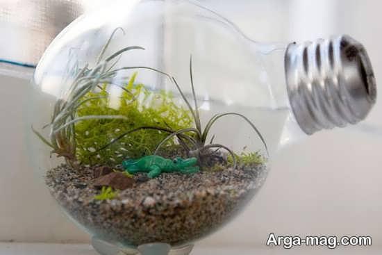ساخت کاردستی زیبا با لامپ سوخته