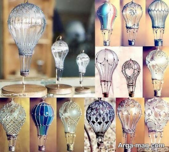 ساخت بالن های زیبا با لامپ سوخته