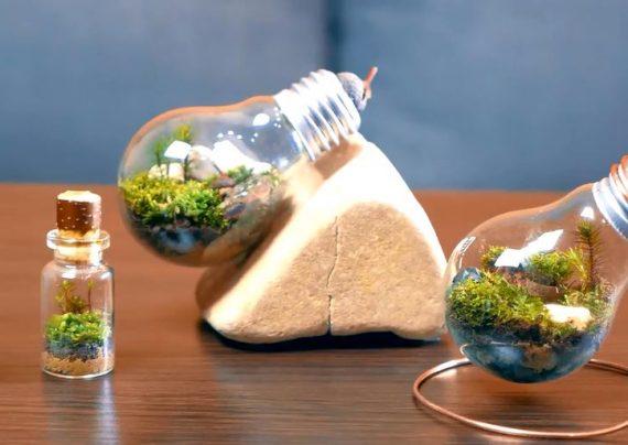 ساخت کاردستی با لامپ سوخته