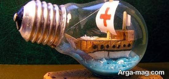 ساخت کاردستی زیبا و فانتزی با لامپ