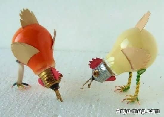 تصاویری از خلاقیت با لامپ سوخته