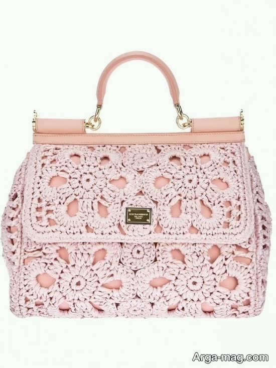 کیف شیک بافتنی زنانه