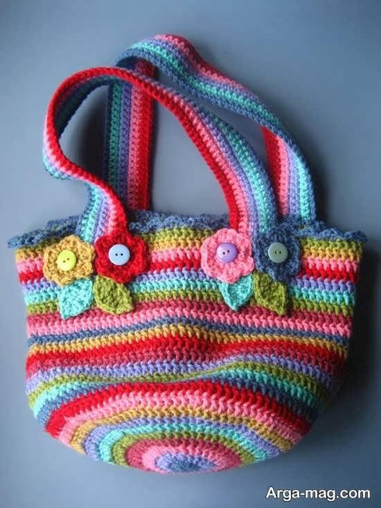 کیف بافتنی دستی مجلسی زنانه