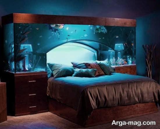 تزیین آکواریوم اتاق خواب