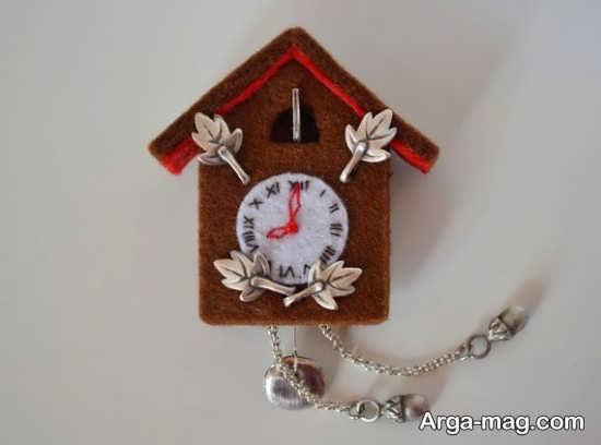 مدل ساعت زیبا نمدی برای اتاق کودک