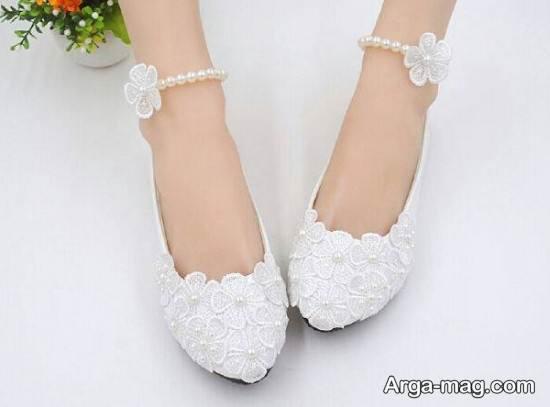 مدل کفش پاشنه تخت عروس