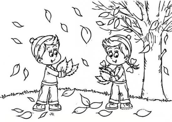 نقاشی کودکانه فصل پاییز