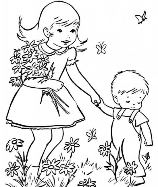 نقاشی کودکانه چهار فصل