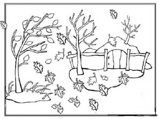 نقاشی فصل پاییز