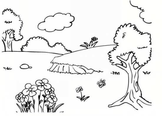 نقاشی جالب و کودکانه چهار فصل