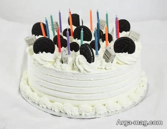 تزیین روی کیک با خامه