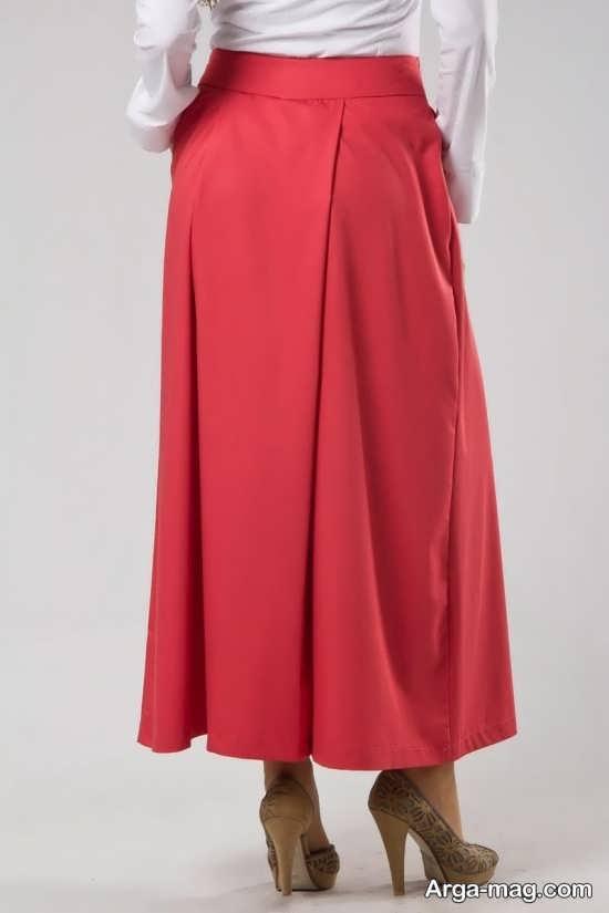 مدل لباس مجلسی بلند پیله دار مدل دامن شلواری جدید زنانه و دخترانه راحت و شیک - روجانیوز