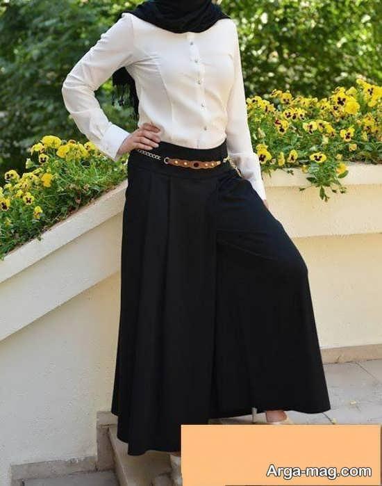 دامن شلواری برای خانم های قد کوتاه