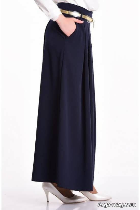 مدل لباس مجلسی بلند پیله دار مدل دامن شلواری جدید زنانه و دخترانه راحت و شیک