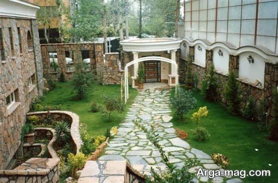 محوطه سازی حیاط با ایده های لاکچری