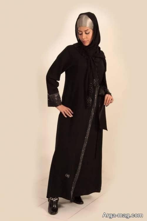مدل مانتو مشکی لبنانی