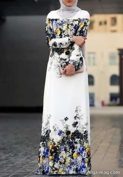 مدل مانتو لبنانی سفید